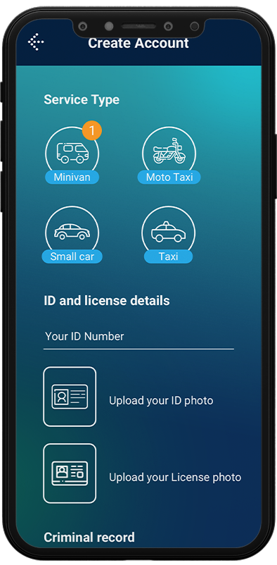 driver app features