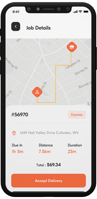 delivery boy app features