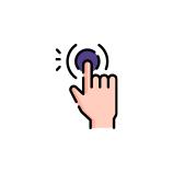 single tap request button