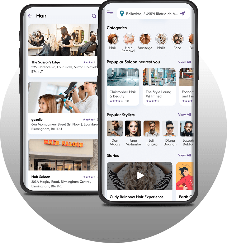 salon app development