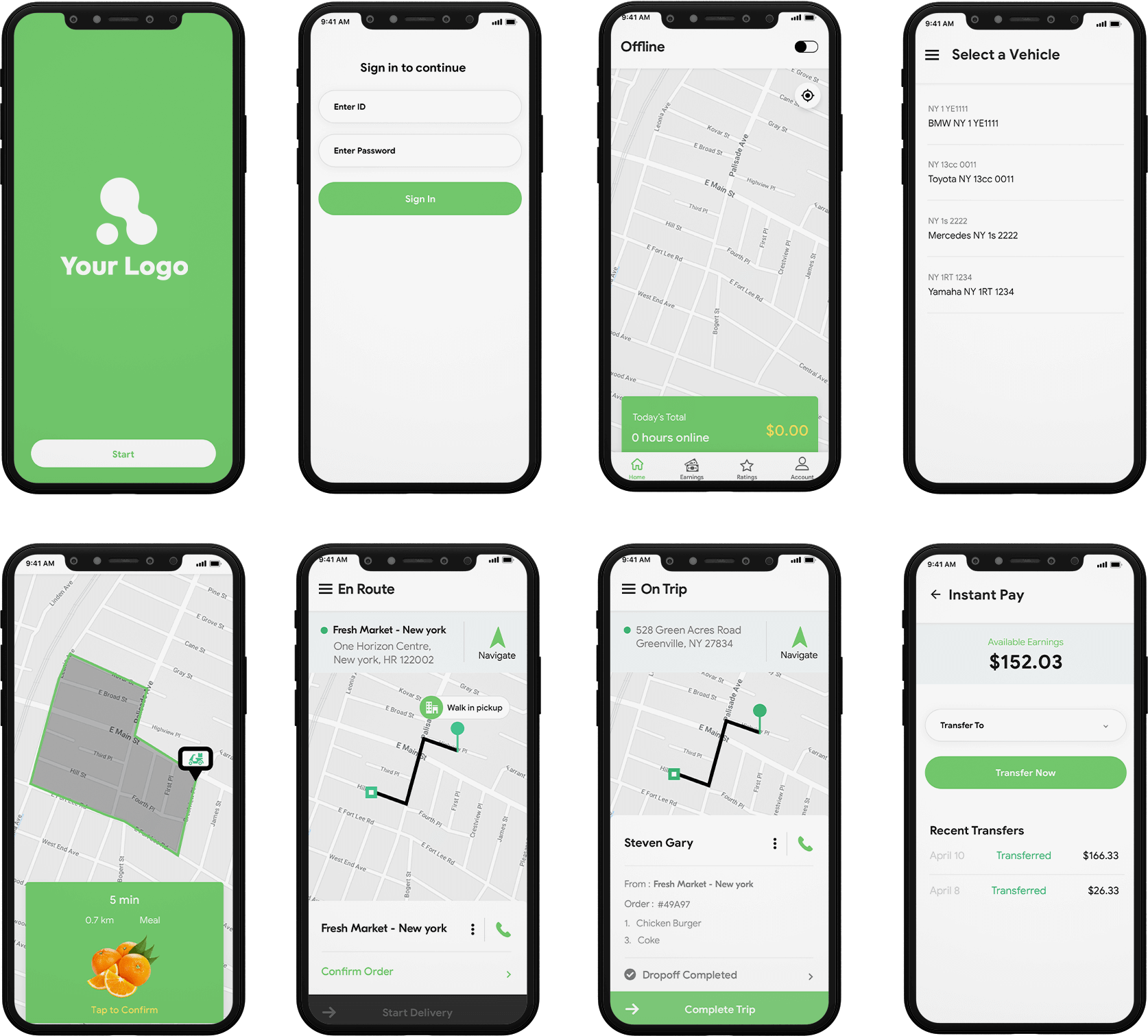 delivery boy app design