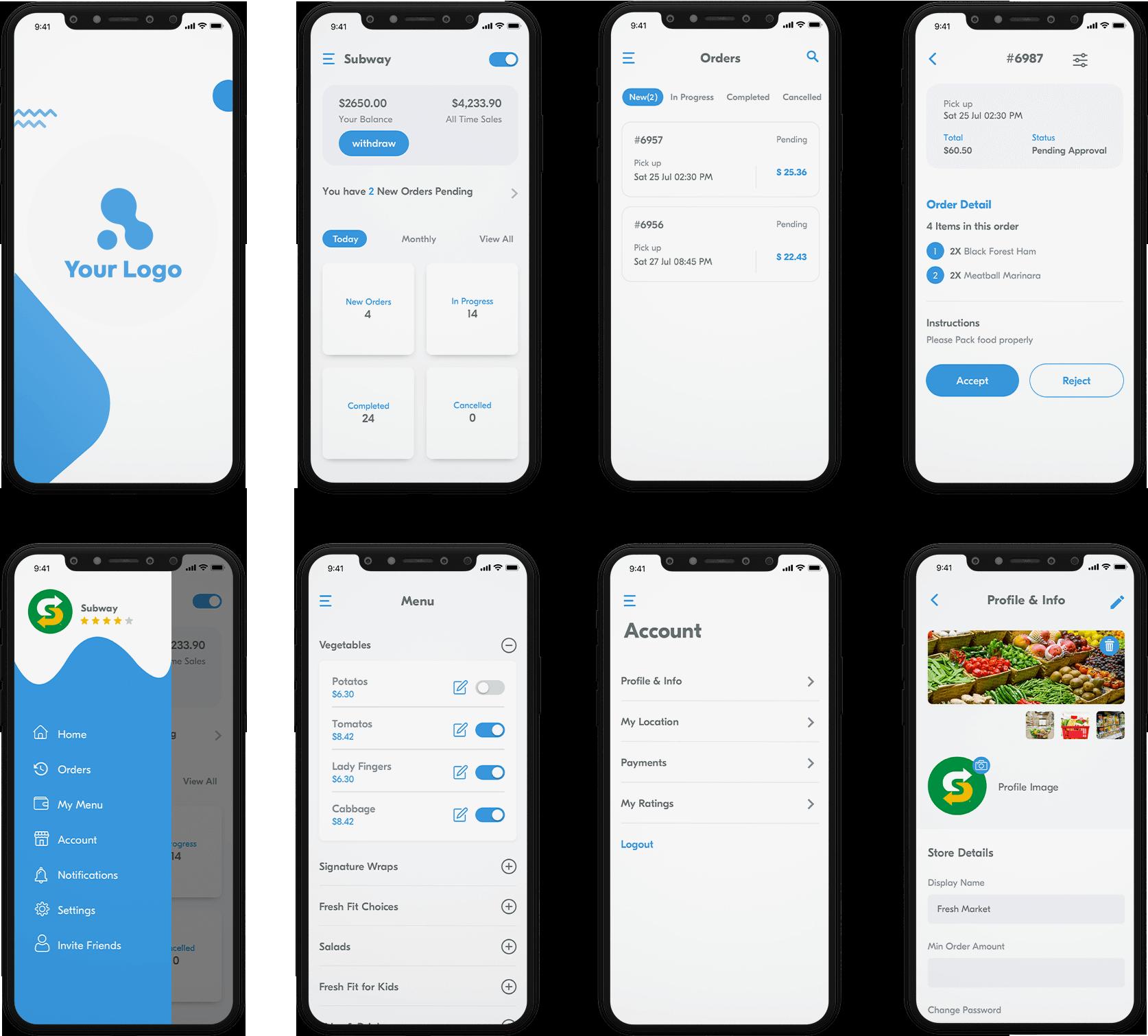 Store Owner App Design