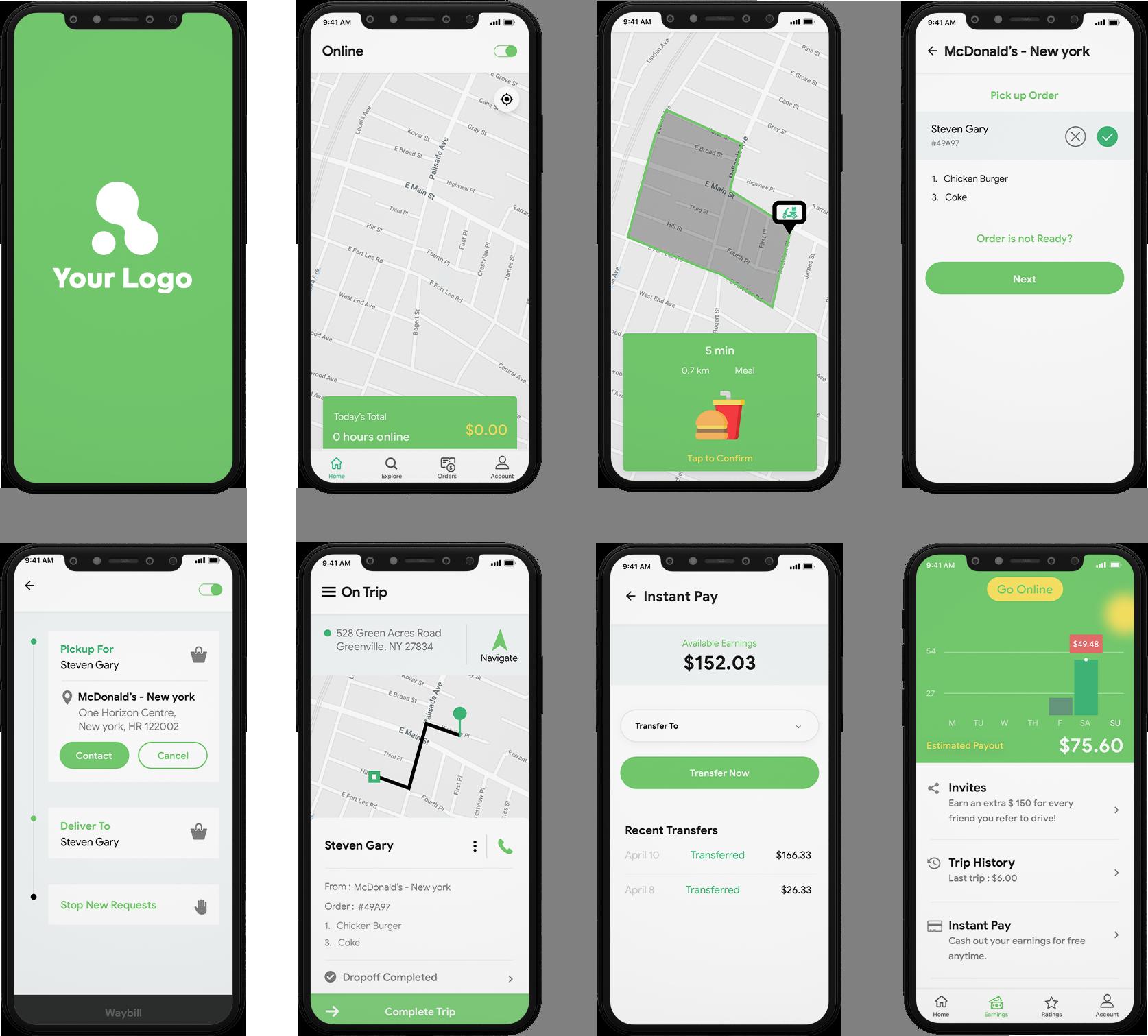 delivery boy app design