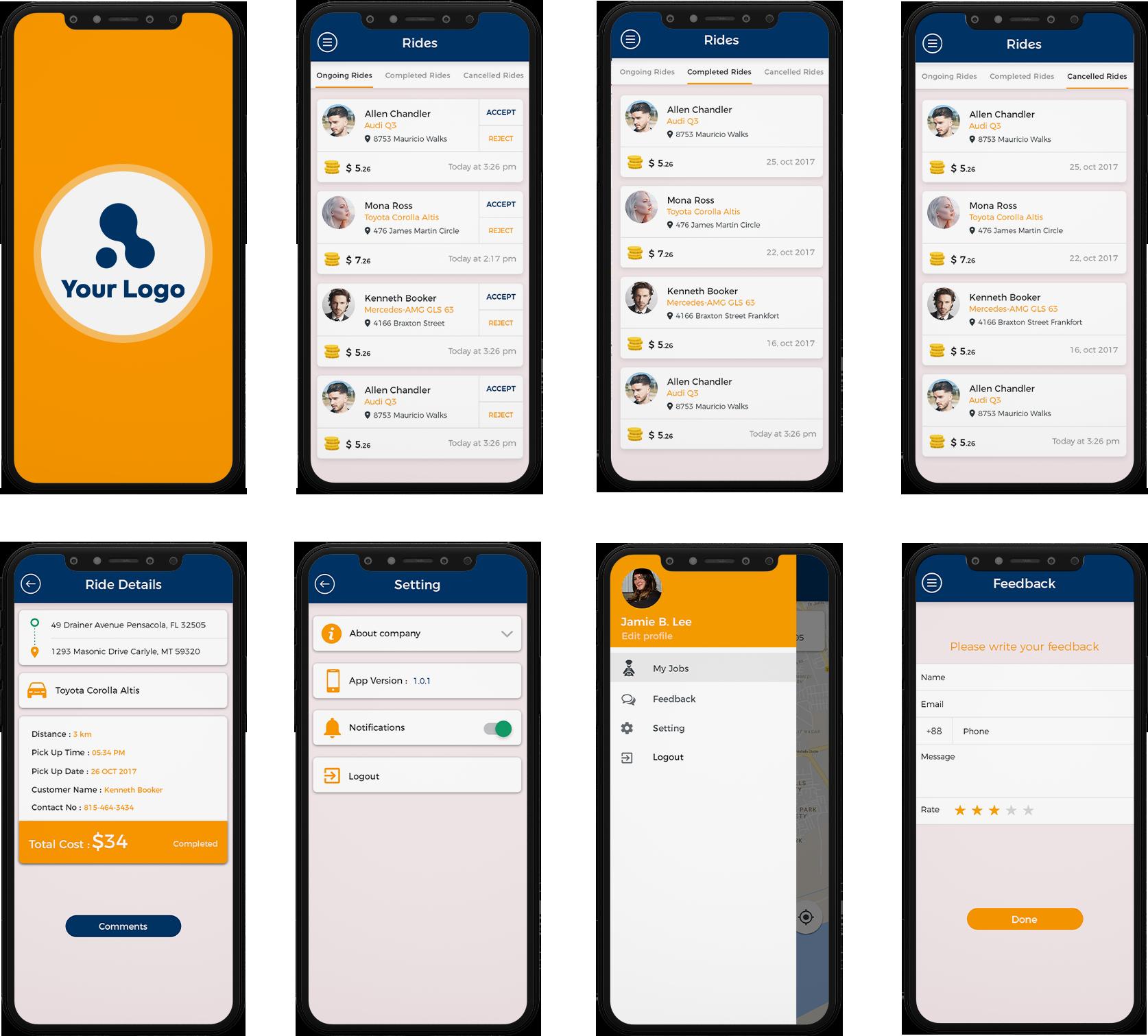 driver app design