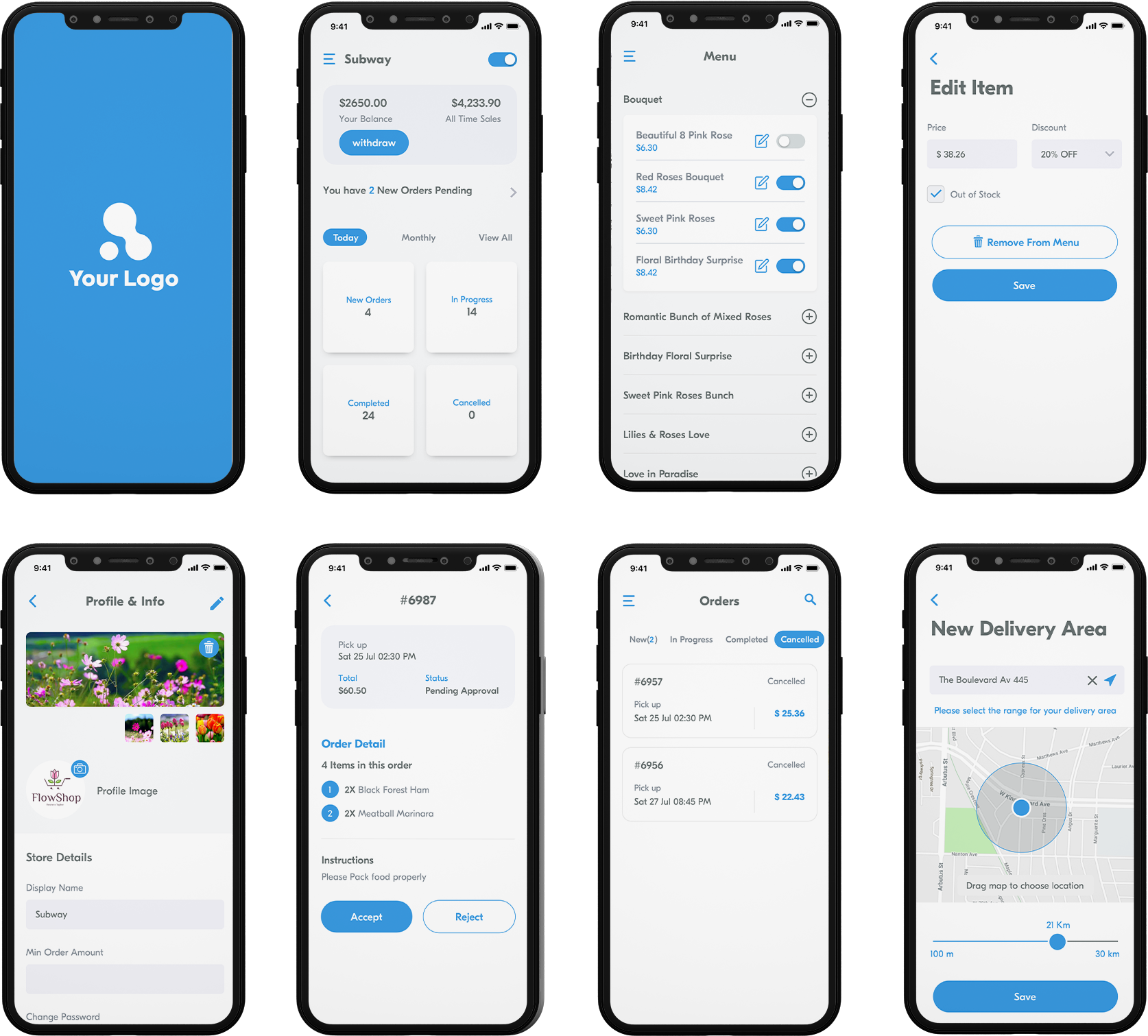 service provider app design