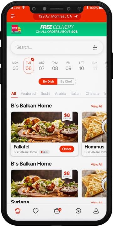 Chefsy - food delivery app