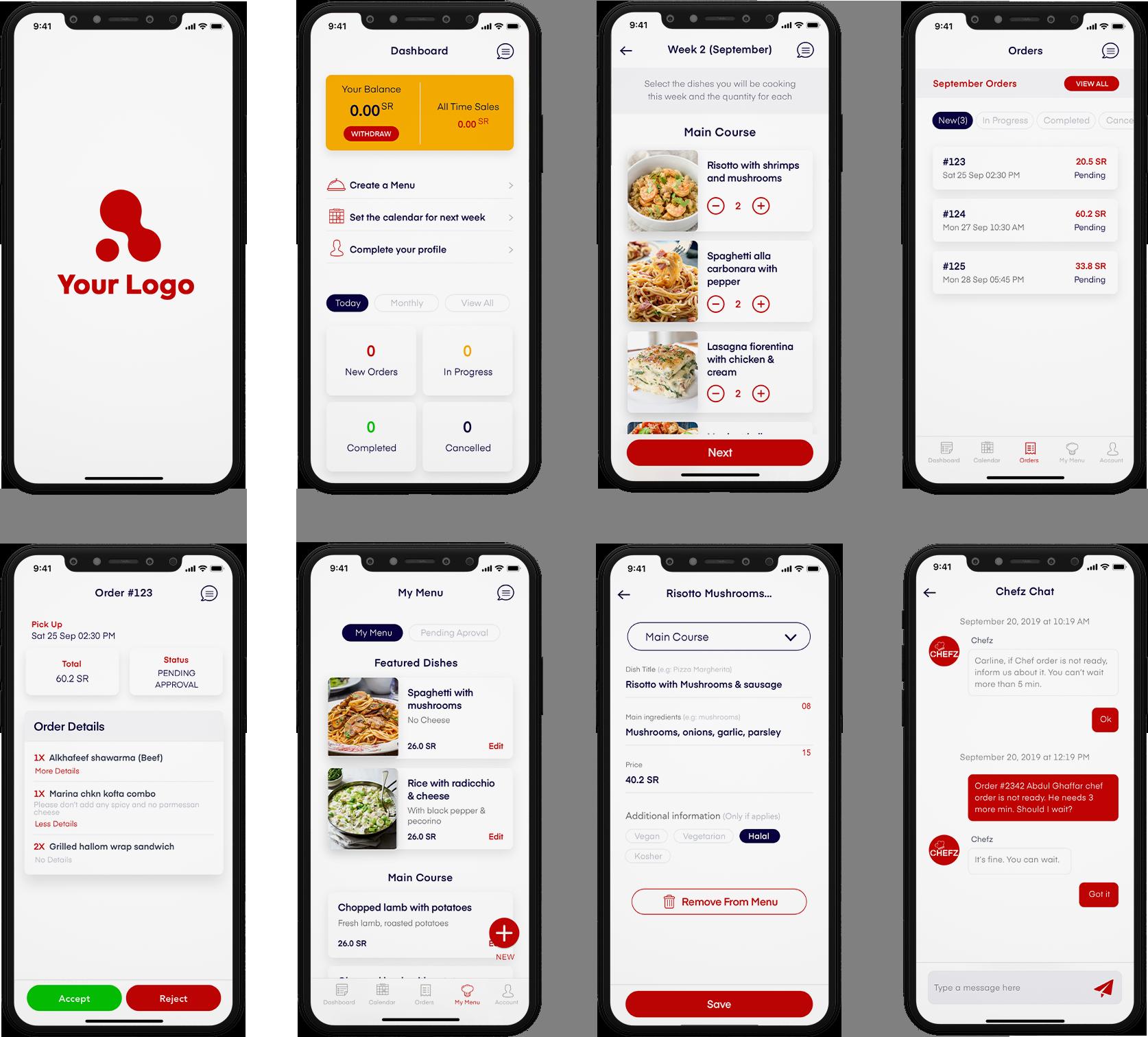 restaurant app screenshot