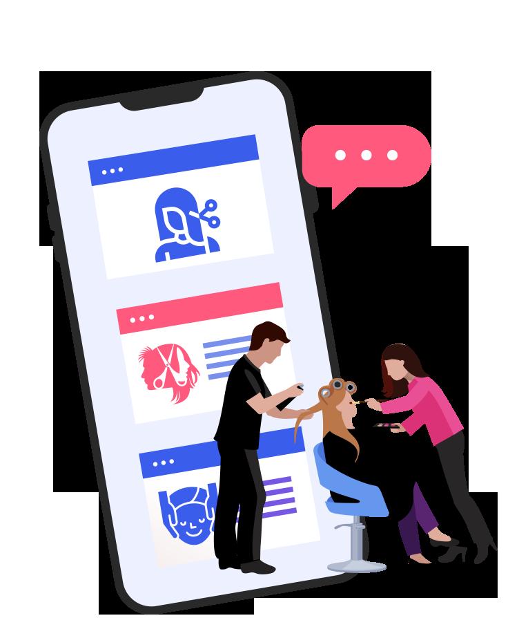 salon app development package