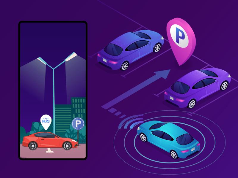 parking app development like SpotHero